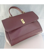 Evan Picone Handbag Brown Leather Satchel Bag - $28.00