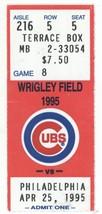 Chicago White Sox @ Wrigley Field 4/25/95 Exhibition Ticket Stub! CWS 6 ... - $6.99