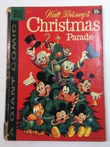 DELL GIANT #9 1958 WALT DISNEY'S CHRISTMAS PARADE SILVER AGE - $17.05