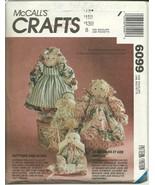 McCall's Sewing Pattern 6099 Dolls Victorian Rag Doll New Uncut - $9.98