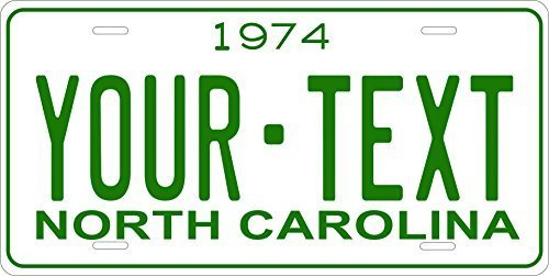 North Carolina 1974 Personalized Tag Vehicle Car Auto License Plate
