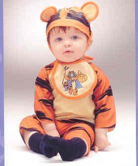 Disney's Baby Tigger Infants Costume 6-12 MONTHS
