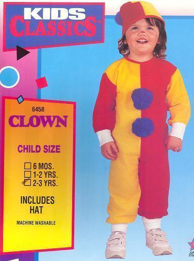 Clown Childs Costume size 2/3 Toddler