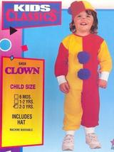 Clown Childs Costume size 2/3 Toddler - $19.00