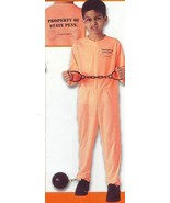 STATE PENN CONVICT ORANGE JUMPSUIT COSTUME SZ CHILD MD 8/10 - $16.00