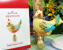 Hallmark Three French Hens 2013 ornament Chicken 12 days #3 in series - $9.65