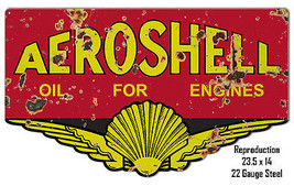 Reproduction Aeroshell Oil Laser Cut Out Metal  Sign 14×23.5 - $49.50