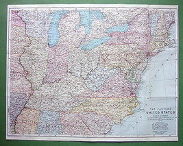 1909 MAP ORIGINAL Baedeker - UNITED STATES East... - $19.75