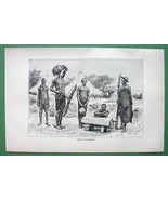 SUDAN Makraka Natives Africa - Antique Print En... - $4.94