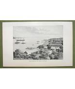 MADAGASCAR Diego Suares Antsirana Bay Africa - 1880s Antique Print - $12.38