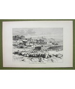 ISRAEL Mount Hermon View from Rasheya - 1880s A... - $12.38