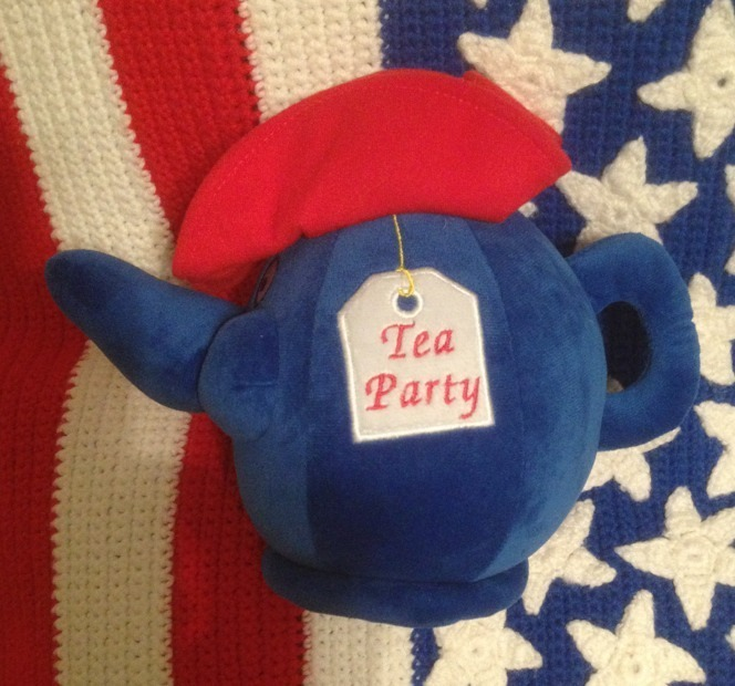"Primary image for Excellent Condition RARE 11"" TEA PARTY Plush Doll Teapot Kettle Pot"