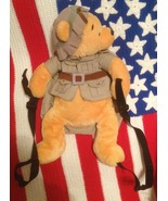 Disney Winnie the Pooh In Expedition Outfit Plush Teddy Bear Backpack Small - $19.99