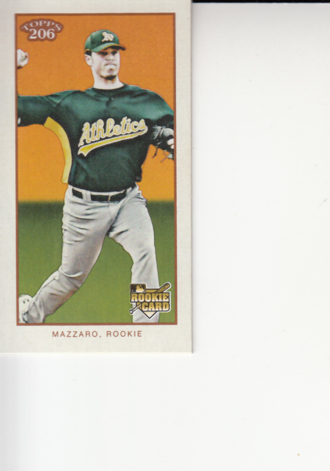 Primary image for Vin Mazzaro 2009 Topps 206 Mini Tallboy Rookie Card #215