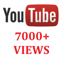 7000+ YOUTUBE VIEWS VISITORS PROMOTION - $14.00