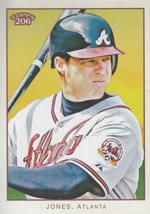 Chipper Jones 2009 Topps 206 Card #139 - $0.99