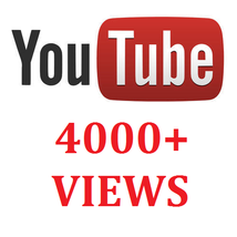 4000+ YOUTUBE VIEWS VISITORS PROMOTION - $8.00