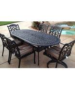 Outdoor Patio dining Set 7 Pc furniture Cast Aluminum Antique Flamingo B... - $1,599.00