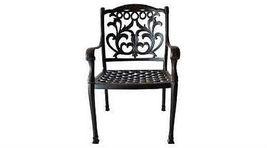 Outdoor Patio dining Set 7 Pc furniture Cast Aluminum Antique Flamingo Bronze image 3