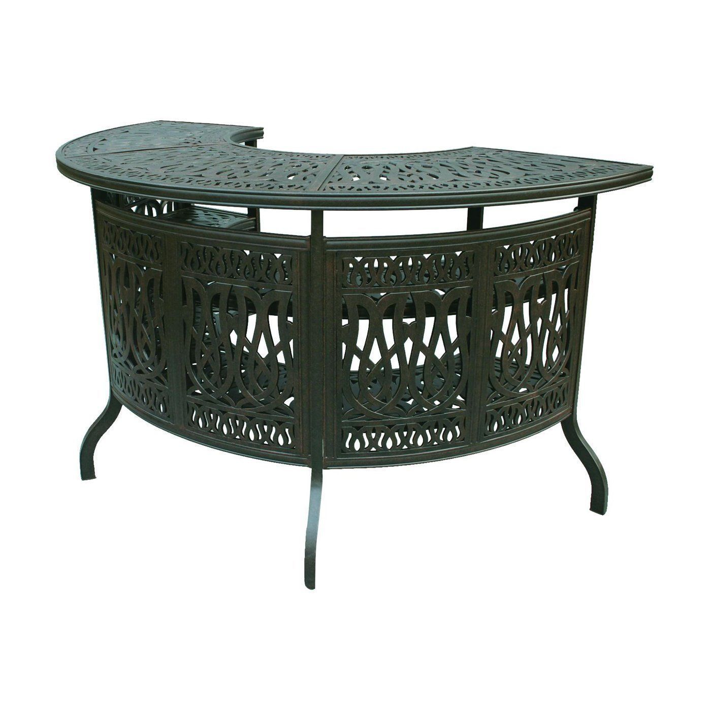 Patio Bar Elisabeth solid cast aluminum all weather Table furniture Bronze