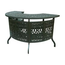 Patio Bar Elisabeth solid cast aluminum all weather Table furniture Bronze image 1
