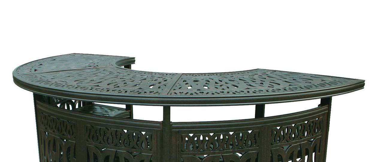 Patio Bar Elisabeth solid cast aluminum all weather Table furniture Bronze image 2