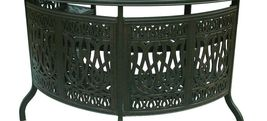 Patio Bar Elisabeth solid cast aluminum all weather Table furniture Bronze image 3