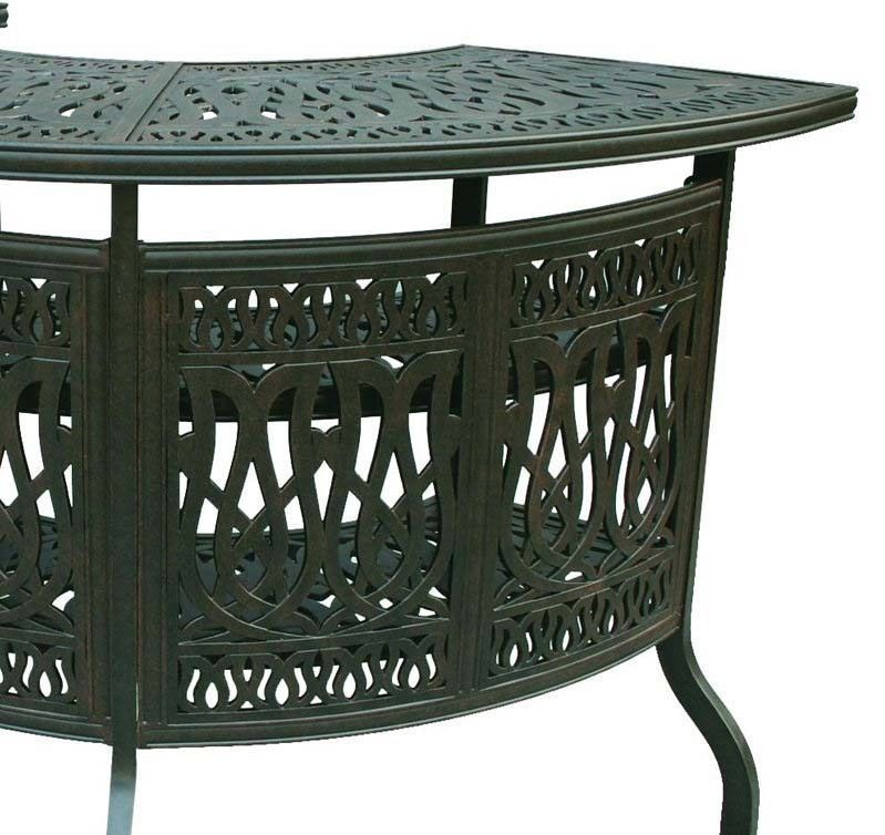 Patio Bar Elisabeth solid cast aluminum all weather Table furniture Bronze image 4