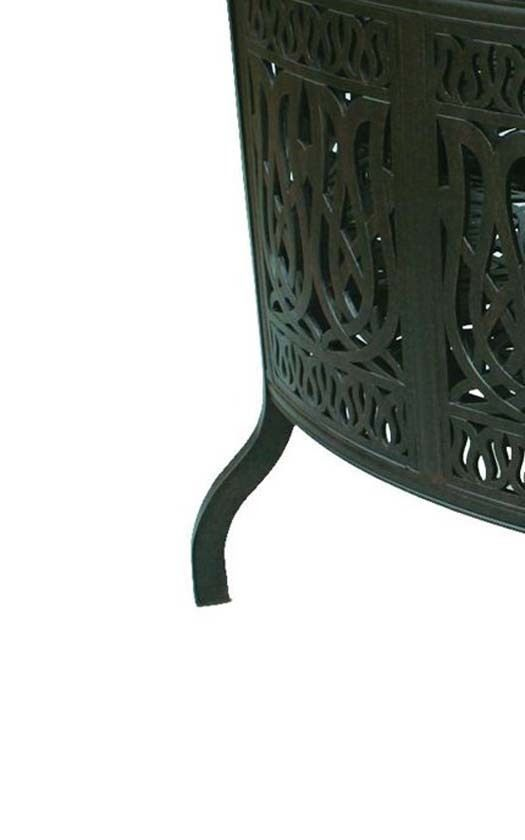 Patio Bar Elisabeth solid cast aluminum all weather Table furniture Bronze image 5