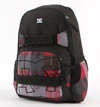 MEN'S GUYS DC NELSTONE 2P RED PLAID BACKPACK SCHOOL BAG NEW $65 - $39.99