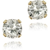 7ct Brilliant Cut Round Earrings 14K Solid Yellow Gold Basket Solitaire ... - $295.01