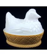 Vintage Avon hen on nest dish white milk glass ... - $15.00