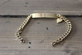Vintage Joe and Jen Love ID Bracelet by Speidel - $29.70