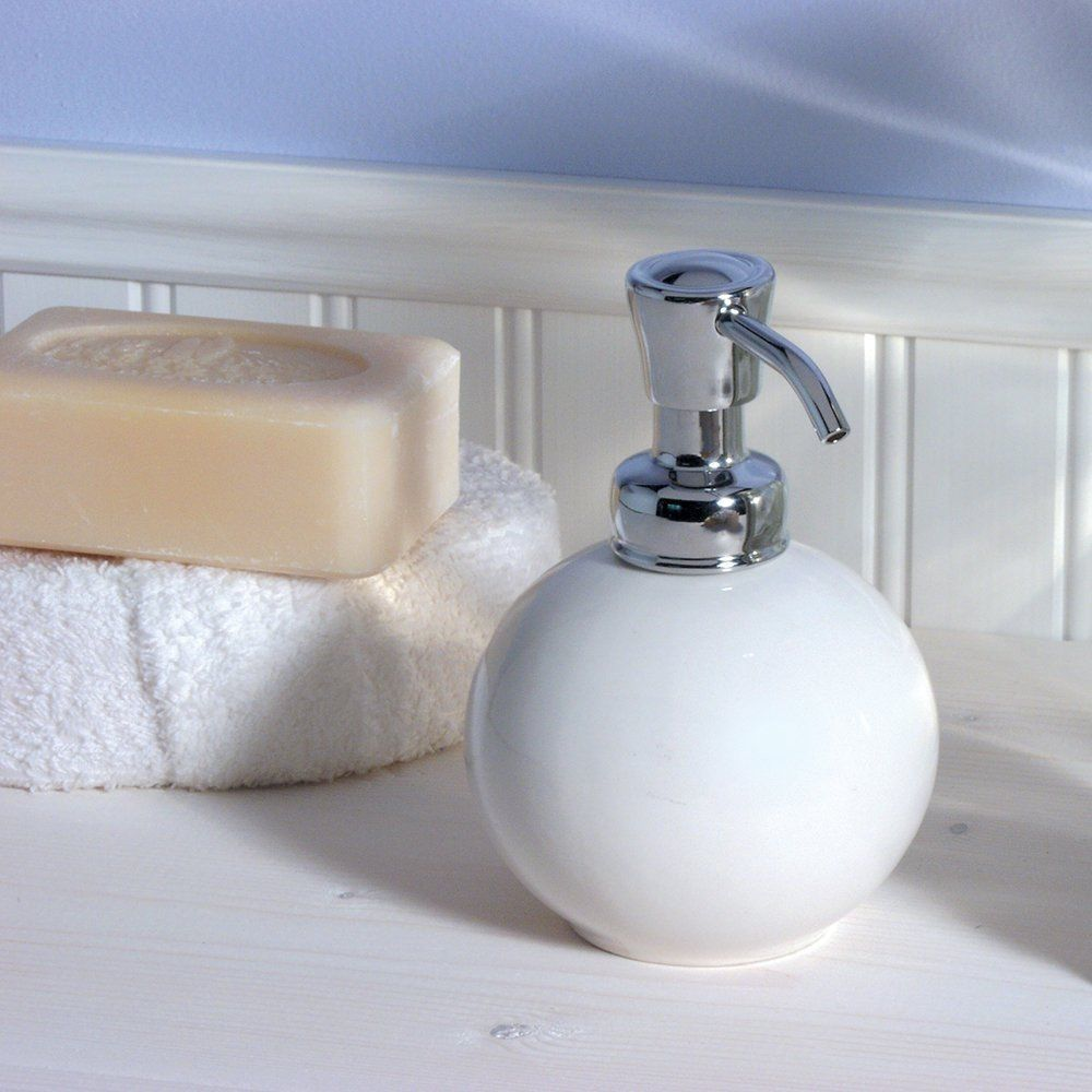 InterDesign York Ceramic Soap and Lotion Dispenser Pump