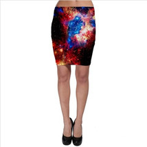Galaxy Bodycon Skirt - Supernova, Nebula - $35.00