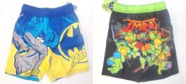 Batman TMNT Toddler Boys Swim Shorts Mesh Lining UPF 50+ Size 2T, 3T or 4T NWT - $11.19