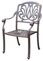 Outdoor furniture dining chair patio set of 4 Elisabeth solid cast aluminum image 2
