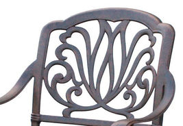 Outdoor furniture dining chair patio set of 4 Elisabeth solid cast aluminum image 3