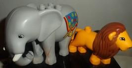 Lego Duplo Elephant And Lion Lot - $12.82