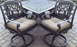 3 piece patio furniture Flamingo swivel rocker Chairs aluminum end table... - $699.00
