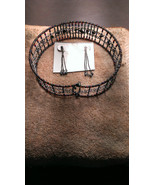 Absolutely Festive and  Beautiful 3pc Choker and Pierced Earring Set ! - $29.95