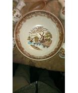 9pc.Beautiful Porcelain Salad Set.Hand Painted Dutch Windmill Background... - $49.95