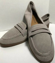 Lucky Brand Grey Perforated Suede  Loafers Size 8.5 Or 6 Cute. New No Box - $33.65