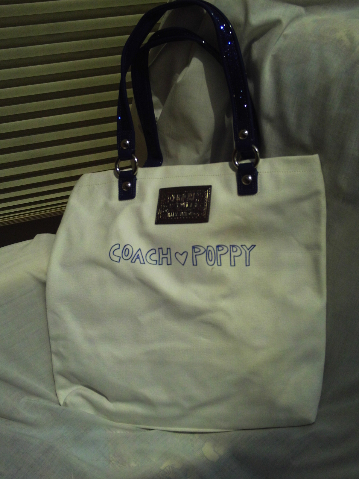 NWT/COACH/POPPY CHAN/BLUEBERRY/TOTE/HANDBAG/BAG/PURSE image 2