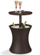 Pool Cooler Table Wicker Rattan Patio BBQ Party Ice Cocktail - $114.99