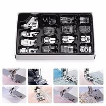 16Pcs Domestic Sewing Machine Presser Foot Feet Kit Set Hem Foot Spare P... - $24.97
