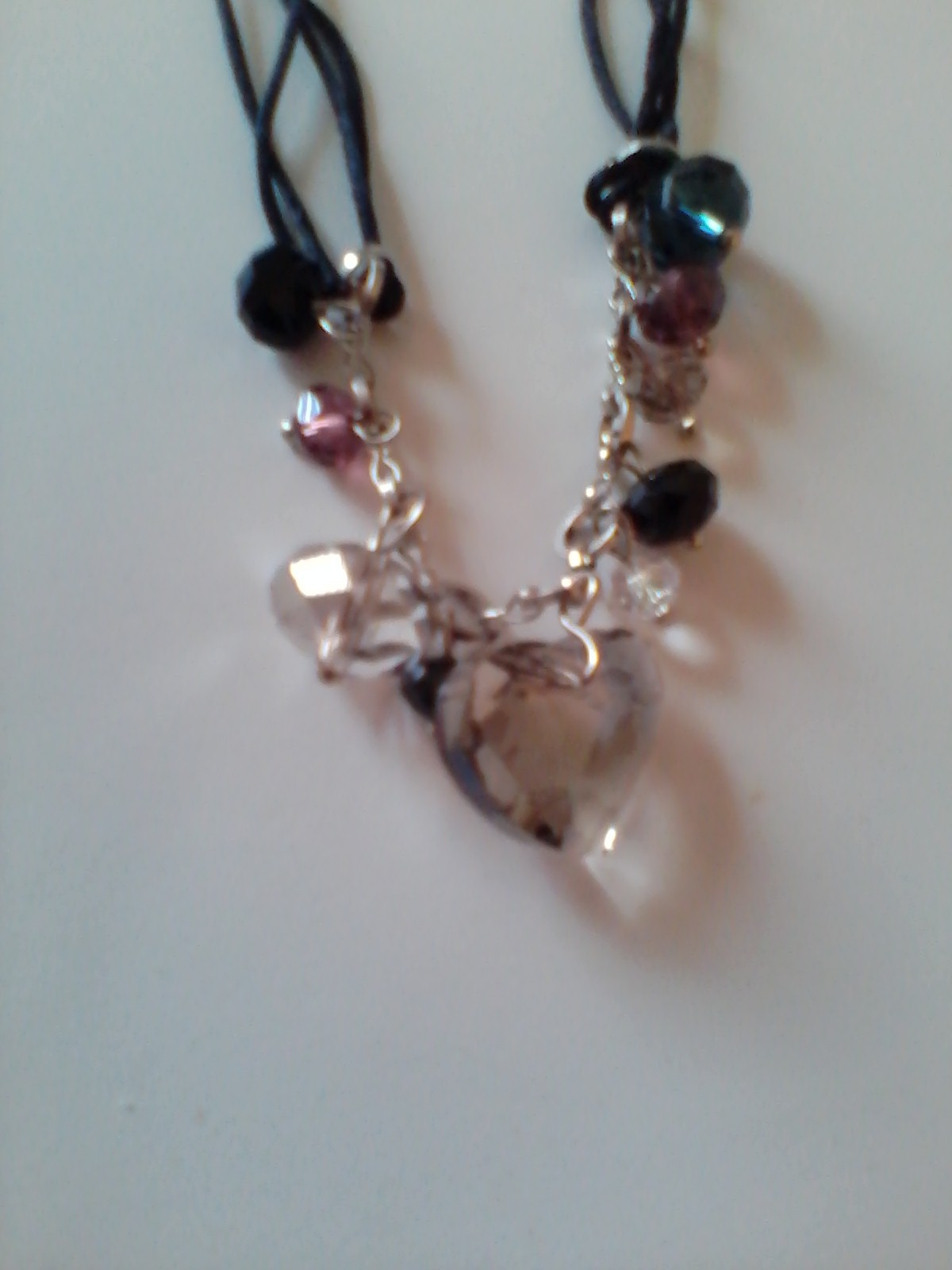 """CRYSTAL NECKLACE WITH 20"""" NYLON CORD"""