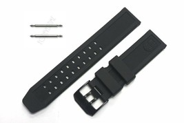 Luminox 23mm 3050.20 BPL Black Silicone Rubber Watch Band Strap NAVY SEAL  - $39.95