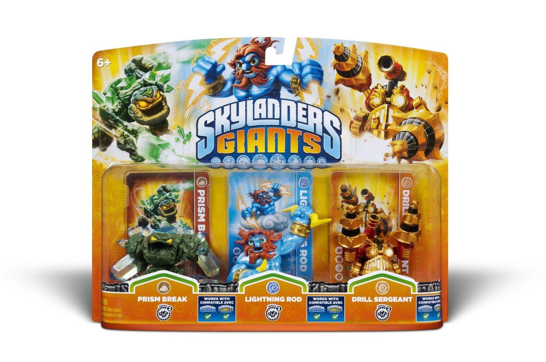 Skylanders Giants Triple Pack (Prism Break, Lightning Rod & Drill Sergeant) - $25.00