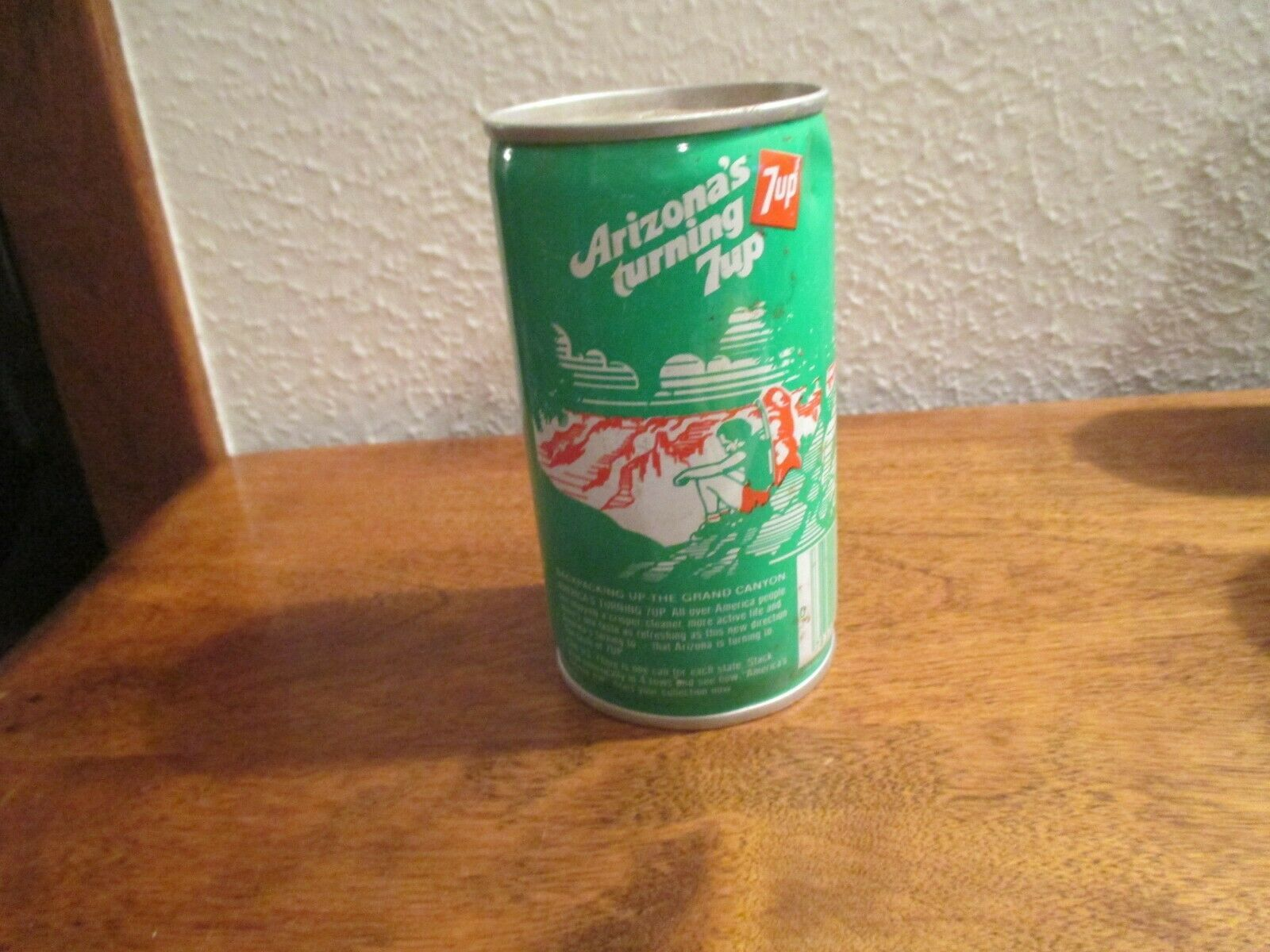 Primary image for Arizona AZ turning 7up vintage pop soda metal can Backpacking grand canyon